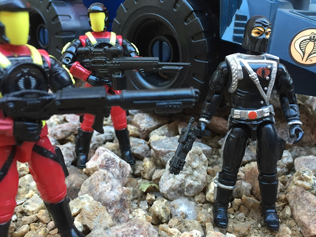 1993 Cobra Commander, Battle Corps, Detonator, Crimson Guard Commander