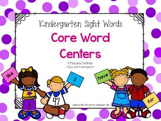 https://www.teacherspayteachers.com/Product/Kindergarten-Sight-Words-Core-Word-Centers-2579752