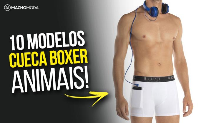 e6d5729d6 Macho Moda - Blog de Moda Masculina  CUECA BOXER  10 modelos ANIMAIS ...