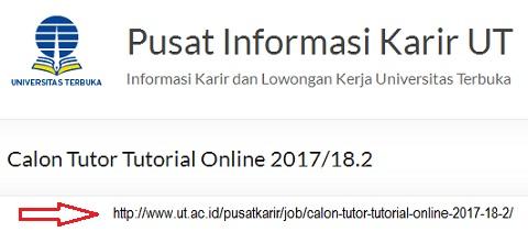 Info Rekrutmen Calon Tutor Tutorial Online UT Semester 2017/18.2