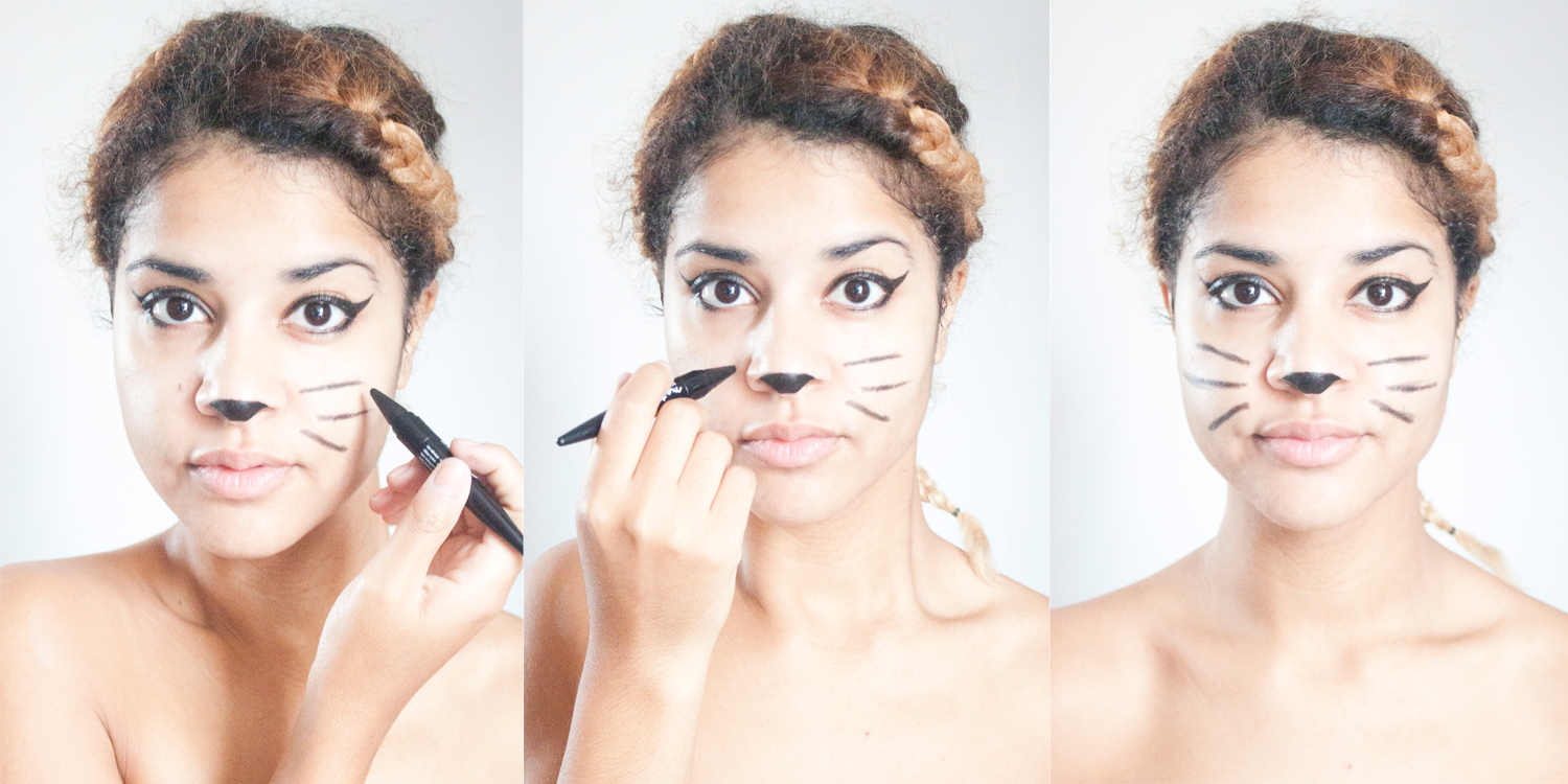 maquillage de chat Halloween, blogueuse