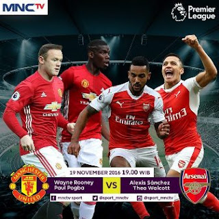 Manchester United vs Arsenal Disiarkan Langsung MNCTV