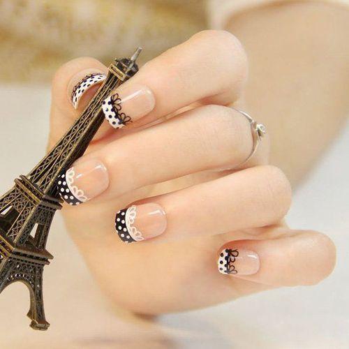 Uñas Francesitas Originales Mavis Glam Uñas Decoradas