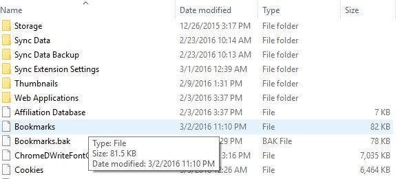 how to create a bookmark folder in google chrome