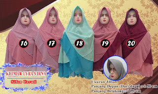 Jilbab khimar bolak balik polos dua warna murah