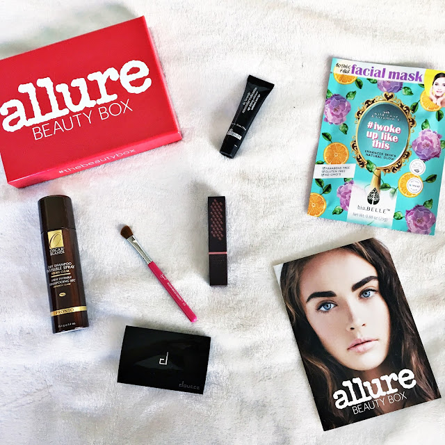 allure beauty box january 2017 dr brandt biobelle burt's bees oscar blandi sigma doucce