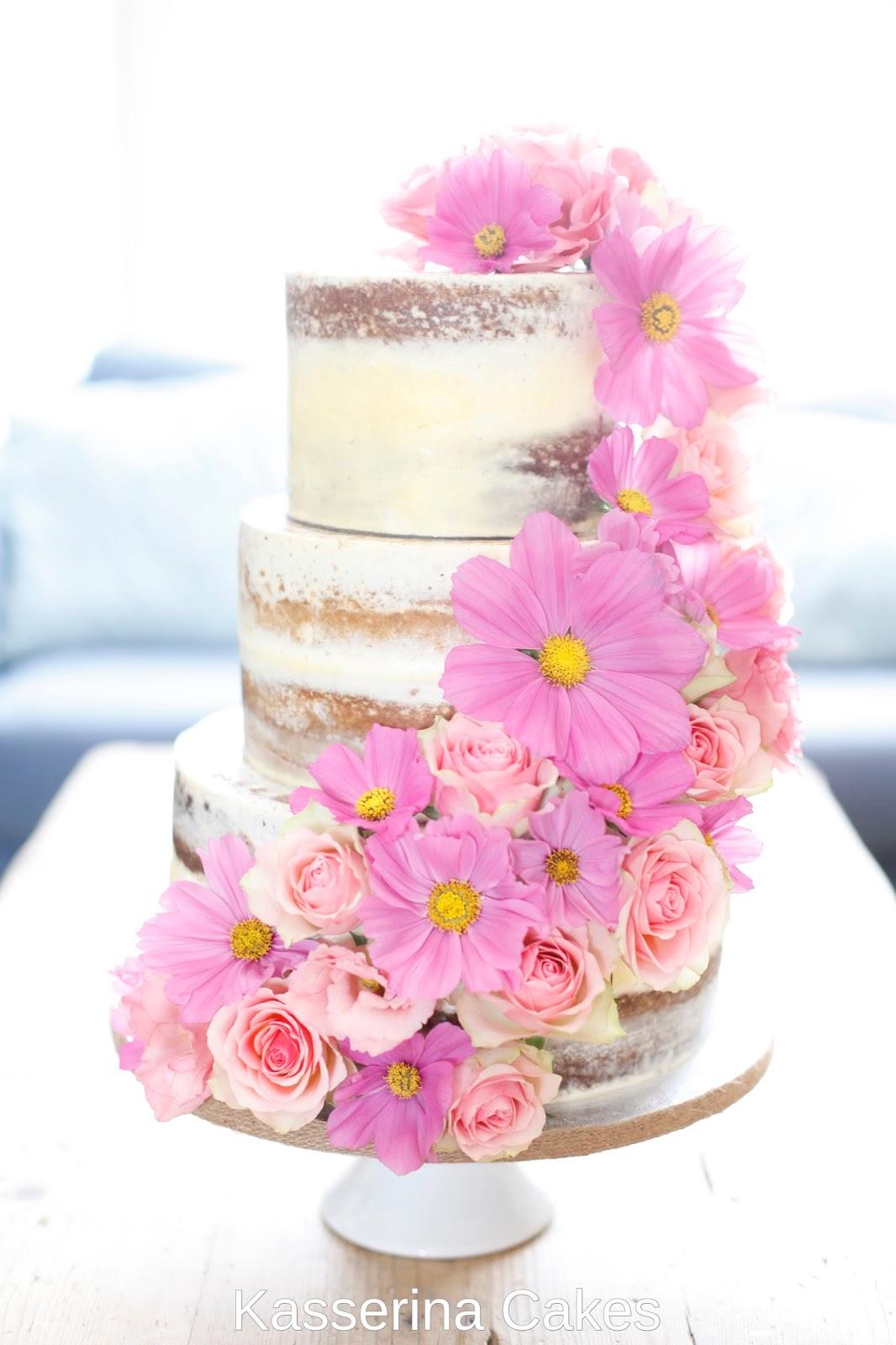 Kasserina: Rustic semi-rustic cake with fresh flowers - June 2016
