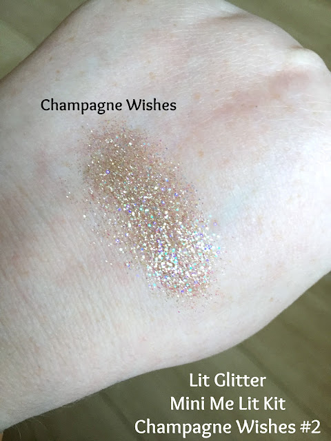 Lit Cosmetics Glitter Swatch in Champagne Wishes
