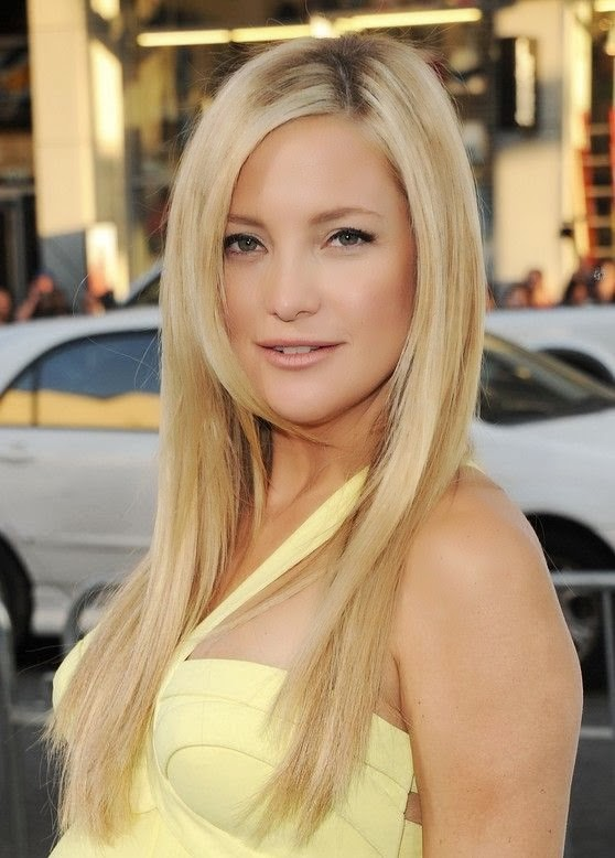Cute long straight hairstyle for blonde hair Kate Hudson hairstyles}