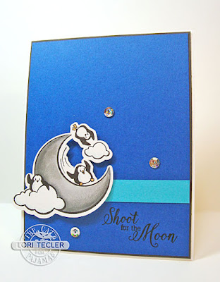 Shoot for the Moon card-designed by Lori Tecler/Inking Aloud-stamps from The Cat's Pajamas