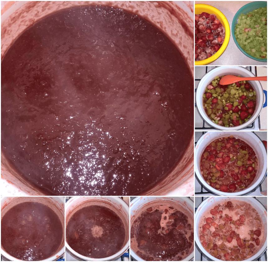 jak zrobić domowy dżem truskawkowy rabarbarowy