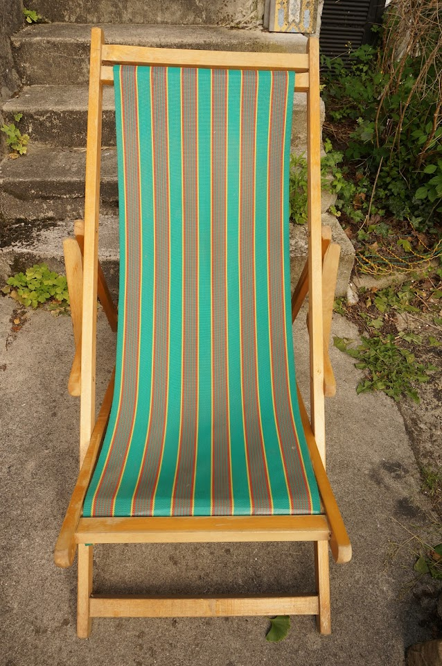 vintage chaise longue sun lounger