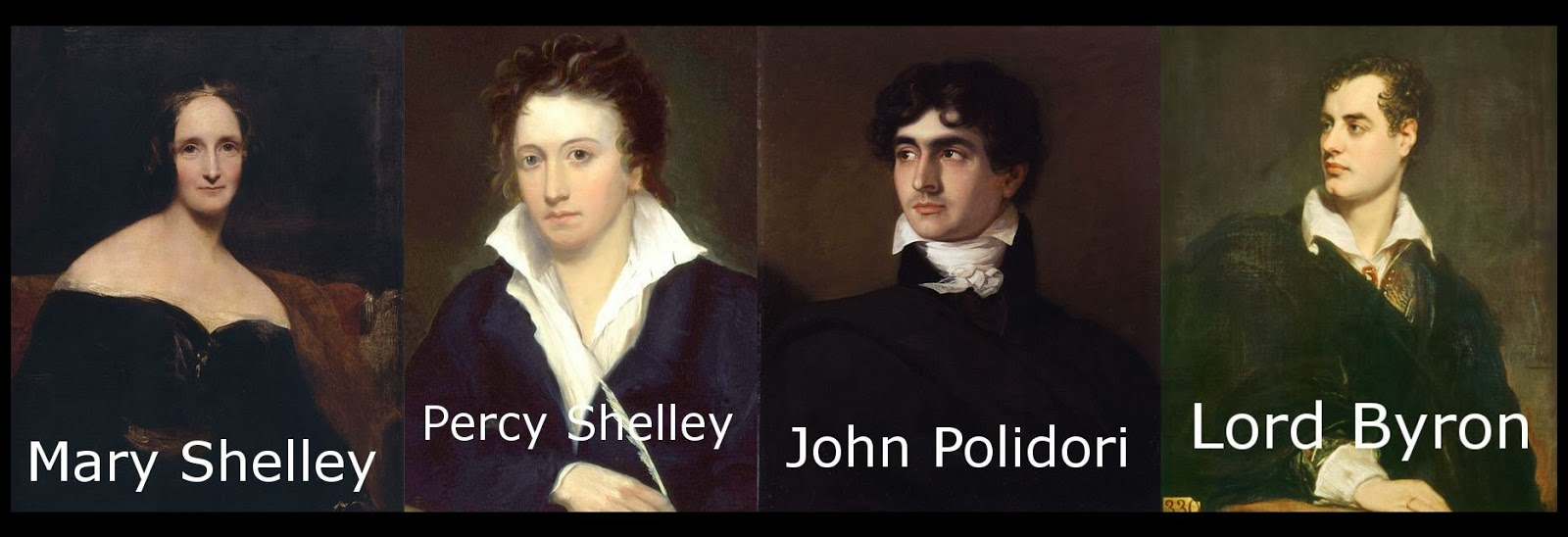 Image result for mary shelley byron percy polidori