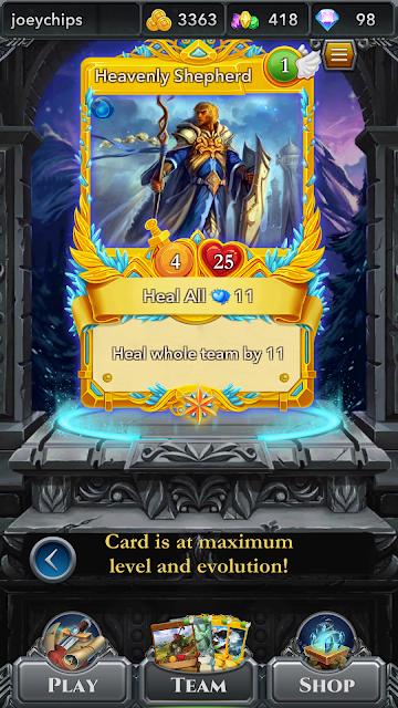 Heavenly Shepherd blockchain card playable in Spells of Genesis game