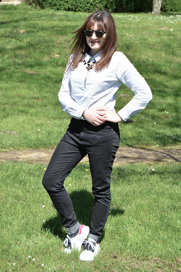 tenue noir et blanc Vélizy 2