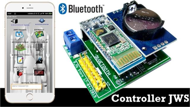 Membuat Controller Jam Waktu Sholat JWS Menggunakan Arduino dan LED P4.75, P7,62dan P10 + Bluetooth