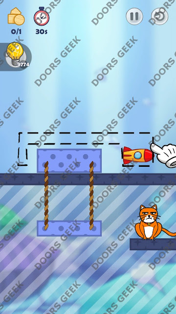 Hello Cats Level 157 Solution, Cheats, Walkthrough 3 Stars for Android and iOS