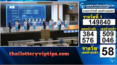 Thailand Lottery Live Results 01 November 2018 Saudi Arabia on TV
