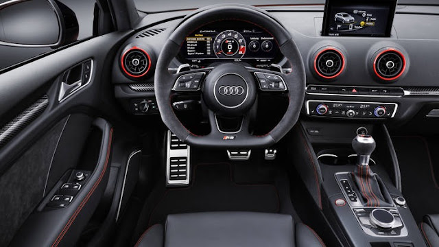 New Audi RS3 with more power interior view