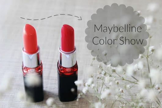 Dr.Poison Ivy's Beauty Blog: Maybelline Color Show Lipstick Swatches