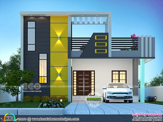 2 bedroom staircase room modern house rendering