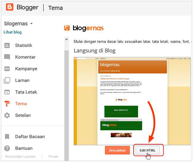 Cara Memberi & Mengganti Warna Background Header Blog