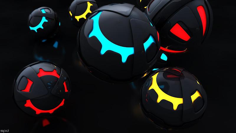 3D Spheres in Darkness HD