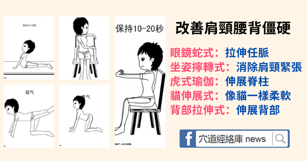 5式拉伸,改善肩頸腰背僵硬(簡單實用)
