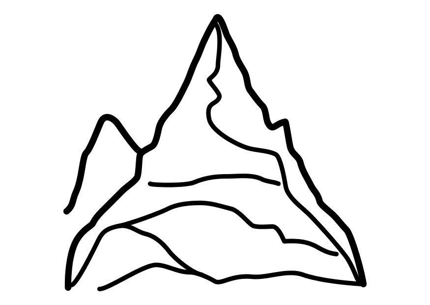 coloring pages mountains - photo#15