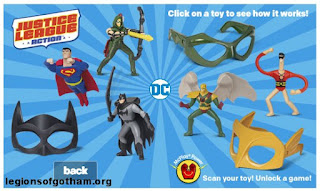 Justice League Action McDonalds Happy Meal Toys