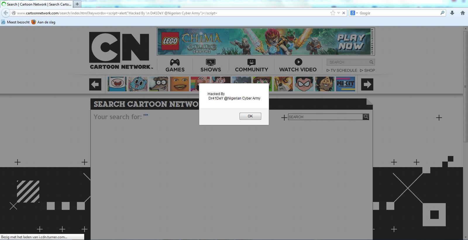 Vuln Pertamina Official Site: Cartoon Network (CN) Official Website Is Vulnerable To XSS