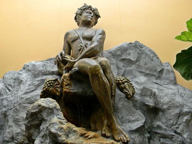 rzeźba, na kamieniu, posąg, palmiarnia