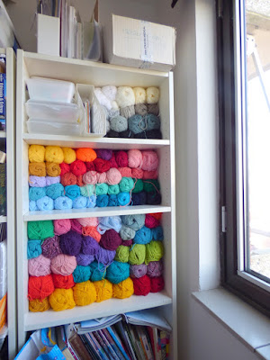 Colorful Yarn Stash Organization