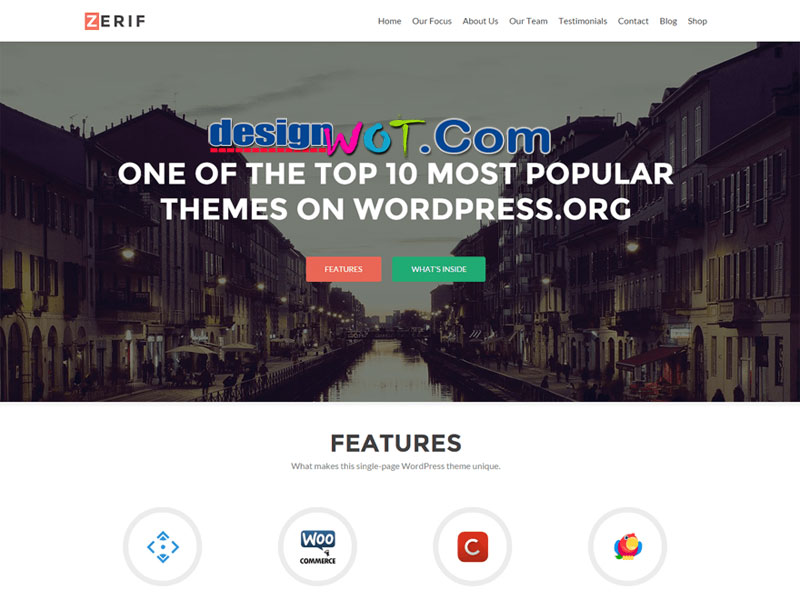 Zerif LITE one pag WordPress Theme