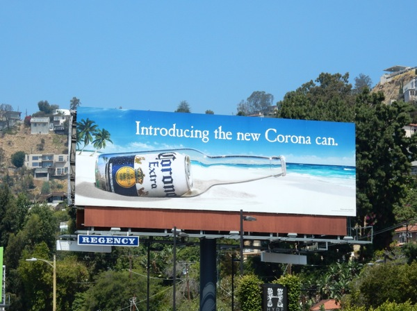 Introducing new Corona can billboard