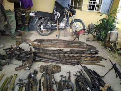Boko Haram weapons seized by Nigerian-Cameroonian forces