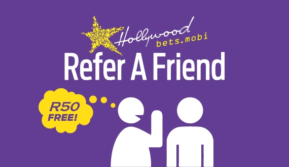 Refer A Friend Promotion - Get R50 free for every succesful friend referral to Hollywoodbets