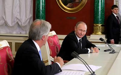 Russian President, President of Uruguay in Kremlin.
