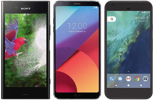 Sony Xperia XZ1 vs LG G6 (H870) vs Google Pixel XL