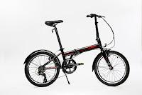 "EuroMini ZiZZO Via Lightweight 20"" 7-Speed Folding Bike, weighs 26 lbs, Shimano components, Kenda tires, fenders, adjustable stem & seatpost"