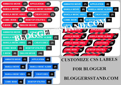 How to Add CSS Custom Label Widget in Blogger template