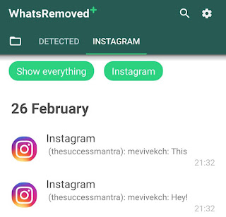 Read deleted Instagram messages