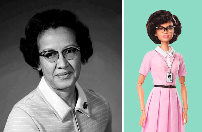 Barbie Introduces 17 New Dolls Based On Inspirational Women Such As Frida Kahlo And Amelia Earhart - Katherine Johnson, NASA Mathematician And Physicist