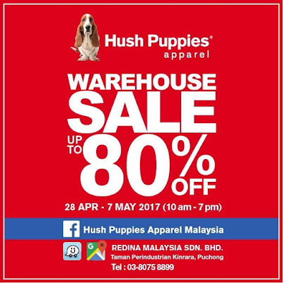 Hush Puppies Apparel Malaysia Warehouse Sale