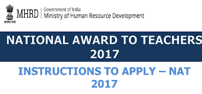 Revised Guidelines National Awards 2017