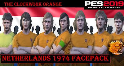 PES 2019 Facepack Netherlands 1974 by MictlanTheGod