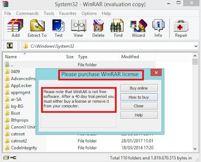Cara mengganti WinRAR menjadi full version