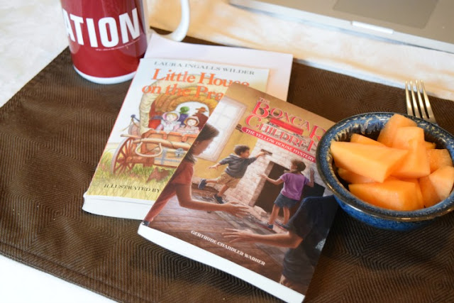 Little House On The Prairie and The Boxcar Children, Included in Reading Roundup- Books We're Enjoying