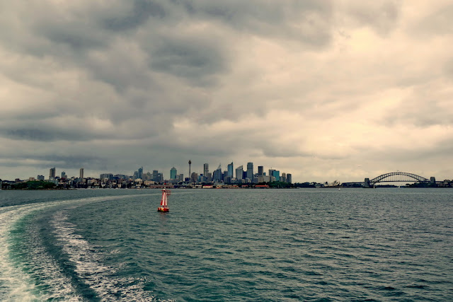 Sydney, Sicht, Manly, Ferry, Harbour Bridge, Gewitter, Sturm, Skyline, Meer