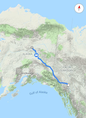 Map of the trip on Yukon River